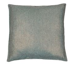 Thro by Marlo Lorenz Chase Texture Weave with Province Foil Pillow, 20 by 20-Inch, Green Blue/Slate Gold