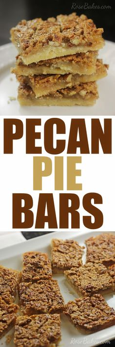 Pecan Pie Bars | Ros