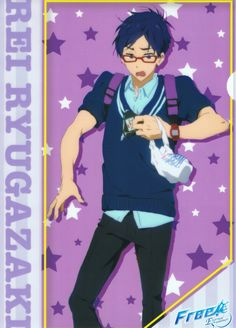 "Ryugazaki Rei -Nagisa Hzuki ""Oh hell yah that's my man"" Splash Free, Free Eternal Summer, Makoharu, Free Iwatobi Swim Club, Free Anime, To My Future Husband, Anime Couples, Nerd, Swimming"