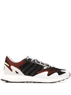 Rhisu Run Sneaker In Black Mesh With White And Red Details In Black/ftwrw Y3 Sneakers, Black Mesh, Black And White, World Of Fashion, Luxury Branding, Red Leather, Lace Up, Unisex, Running