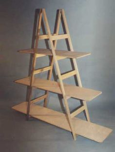 need to find ladders! Craft Booth Displays, Booth Decor, Display Ideas, Booth Ideas, Ladder Display, Display Shelves, Ladder Shelves, Market Stall Display, Handbag Display