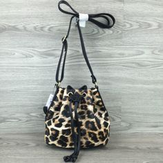 So small but so chic and cute ! :)  Small leopard print messenger bag