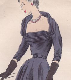 50's Sewing Pattern Vogue 1196 By Jean Desses by SweetSorotVeasman, $200.00 i a suty love tbis style.