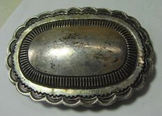 R Martinez Sterling Silver Belt Buckle Native American | eBay
