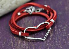 Big Heart Boho Wrap bracelet   #bracelet #jewelry #heart  #romanticjewelry  islandcowgirl.com