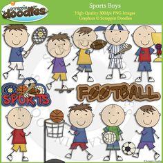 Sports Boys Clip Art Download