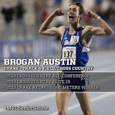 Brogan Austin Drake Cross Country Track Field Drake Relays Track And Field Drake