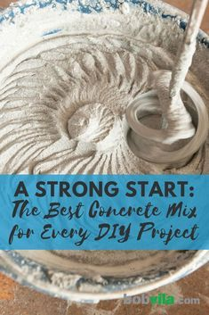A Strong Start: The Best Concrete Mix for Every DIY Project - Would you love to build a beautiful, durable concrete planter or patio but don't know where to st - Diy Concrete Planters, Concrete Cement, Concrete Garden, Concrete Sculpture, Concrete Casting, Concrete Leaves, Concrete Furniture, Diy Concrete Mold, Concrete Mix Design