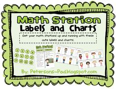Peterson's Pad: Math Work Stations