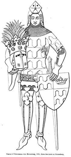 Hartmann von Kroneberg Dating: 1372 Location: Kronenberg Castle chapel, Taunus Mountains, North Rhine-Westphalia, Germany