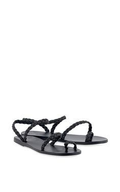 Eleftheria In Black by Ancient Greek Sandals for Preorder on Moda Operandi