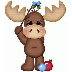 Silhouette Design Store - View Design #50961: mistletoe moose christmas