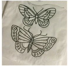Traditional Tattoo Outline, Traditional Tattoo Stencils, Traditional Butterfly Tattoo, Traditional Tattoo Tutorial, Tattoo Outline Drawing, Tattoo Design Drawings, Cute Tattoos, Small Tattoos, Tattoo Flash Sheet