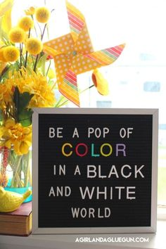 How to get colorful letters for your Letterboard! - A girl and a glue gun Motivational Letter, Inspirational Quotes, Girly Quotes, Happy Quotes, Nail Quotes, Felt Letter Board, Word Board, Color Quotes, Facebook Party