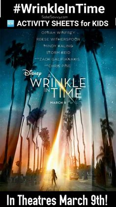 Free A #WrinkleInTime Printables Free Activity Sheets Free Coloring Pages  https://sobesavvy.com/2018/03/07/heres-some-disney-fun-for-your-little-ones-free-wrinkleintime-activity-sheets-disneymoms-wrinkleintime/