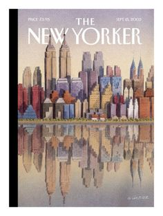 I loved this cover done in September 2003...twin buildings...remembering the twin towers...
