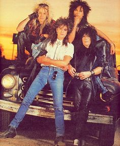 Motley Crue:  Vince Neil, Nikki Sixx, Tommy Lee, and Mick Mars
