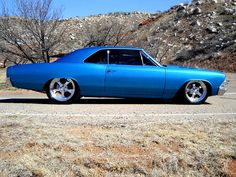 That stance! That color! The wheel sizes! OMG! Spectacular '66 Chevelle