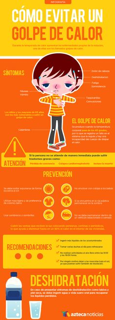 Cómo evitar un golpe de calor #infografia