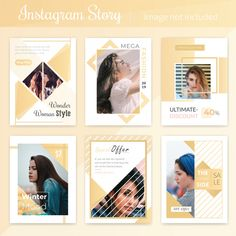 Fashion social media post template Vector | Premium Download Web Design, Graphic Design Layouts, Graphic Design Posters, Graphic Design Inspiration, Layout Design, Social Media Banner, Social Media Template, Social Media Design, Album Design