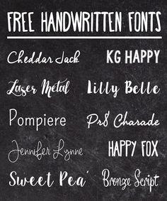 Snowstorm: Favorite Free Handwritten Fonts