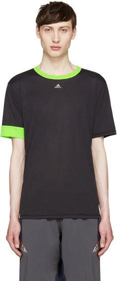 Adidas x Kolor - Black & Green Climachill T-Shirt
