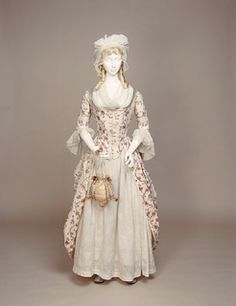 1775-1780 polonaise dress printed (1947.1606)  Manchester City Galleries