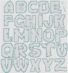 Alphabet x-stitch
