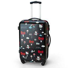 Hello Kitty Luggage M (40 x 62 x 26cm)  - Travel with Hello Kitty Luggage to enjoy your trip! - DOMO ARIGATO JAPAN
