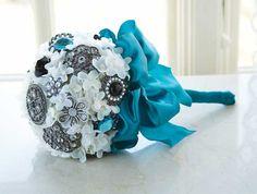 Unique idea for a bridal bouquet.