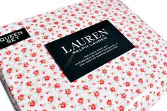 Ralph Lauren Red Roses Queen Sheet Set 4pc Cottage Chic Floral French Country #RalphLauren #Cottage