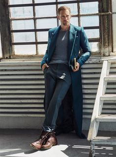 Alexander Skarsgard-- just the coat on this one