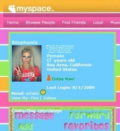 Add me on Myspace! Work Music Video, Music Videos, Makeup History, Core I, Pink Laptop, Character Makeup, Find Friends, Old Windows, Colorful Drawings