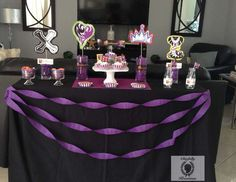 Chicfully Kreations's Viewing party / Descendants - Descendants premier at Catch My Party Bday Girl, Little Girl Birthday, Villains Party, 6th Birthday Parties, 8th Birthday, Birthday Ideas, Halloween Birthday, Princess Party, Free Printables