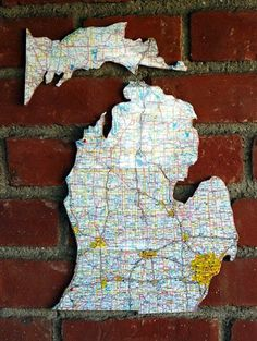 Antique it, paint it, glue on pictures of houses, cottages, schools, State of Michigan works great but don't forget the rest of the upper peninsula.