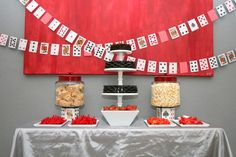 I really love the card ribbon type thing in the background! It'd be simple to make! :)