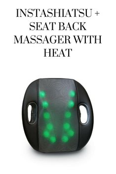 Relax, sit back, and enjoy the benefits of a deep-kneading shiatsu massage. Add heat to the massage for additional comfort. Ergonomic design provides lumbar support for your lower back. 12 individual massage heads target a large massage area.