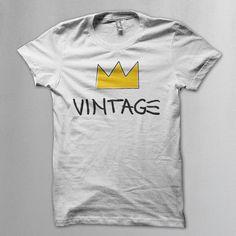 Vintage Jean-Michel Basquiat style t shirt - Vintageness Collection - Vintage t shirts www.vintage.it
