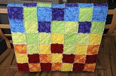Rag quilt tutorial: 1 simplify step - Use flannel or fleece in the middle instead of batting. Cut the flannel/fleece the same size as the other squares so you don't have to sew the X to join the fabric and batting together. It just all joins together when you sew the seams.