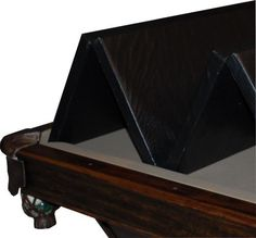 Man Cave  Hood Leather 471 39 X 78 In   Convertible Pool Table Cover U003e