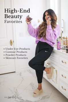 I'm just sharing some holy grail products that are trusty & worth the money! These are my high-end beauty must-haves. Under eye products, countour, powder products and more skincare favorites | The Sweetest Thing by Emily Ann Gemma | Makeup & Beauty Beauty Tips For Skin, Best Beauty Tips, Beauty Review, Eye Products, Best Skincare Products, Beauty Products, Makeup Must Haves, Beauty Must Haves, Tom Ford Bronzer