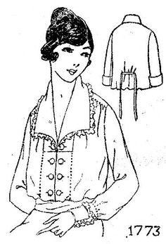 Shirtwaist #1918 #1910s #patterninlink
