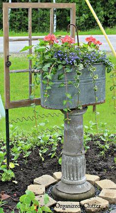 JUNK GARDENING | Organized Clutter Flower Gardening, Gardening Hacks, Vegetable Gardening, Container Gardening Vegetables, Gardening Supplies, Vertical Vegetable Gardens, Organic Gardening Tips, Gardening Websites, Garden Container
