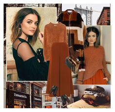 """""""Lucy Hale : )"""" by thisiswhoireallyam7 ❤ liked on Polyvore featuring Gabriela Hearst, Hillier Bartley, Elizabeth and James, Givenchy, Marni, Barneys New York, Henri Bendel, Winter, LucyHale and coralandbrown"""