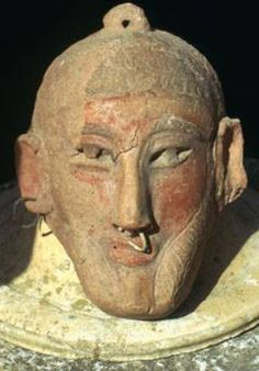 A Punic mask in the Bardo Museum, Tunis