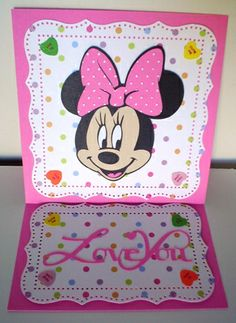 mickey+and+freinds+cartridge+ideas | Carol's Creations: Love You - Minnie Valentine