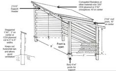 lean to shed plans for horses - Google Search