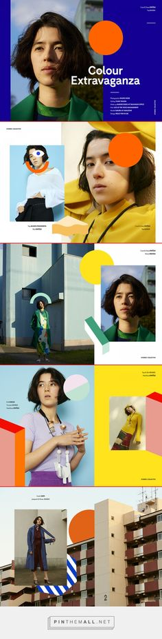 Colour Extravaganza x Stories Collective on Behance... - a grouped images picture - Pin Them All Website Layout, Web Layout, Image Layout, Layout Design, Print Design, Mise En Page Magazine, Leaflet Design, Leaflet Layout, Poster Layout