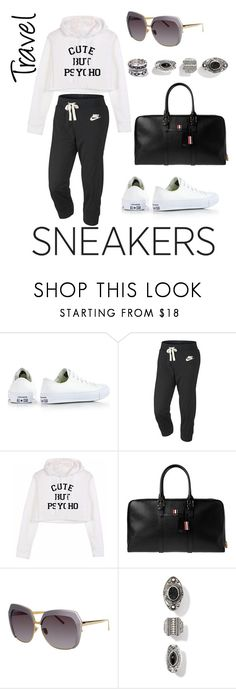 """""""Untitled #196"""" by anjieffat on Polyvore featuring Converse, NIKE, Thom Browne, Linda Farrow and WithChic"""