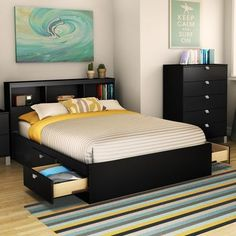 South Shore Spark Mate's Bed Box with Storage Size: Full